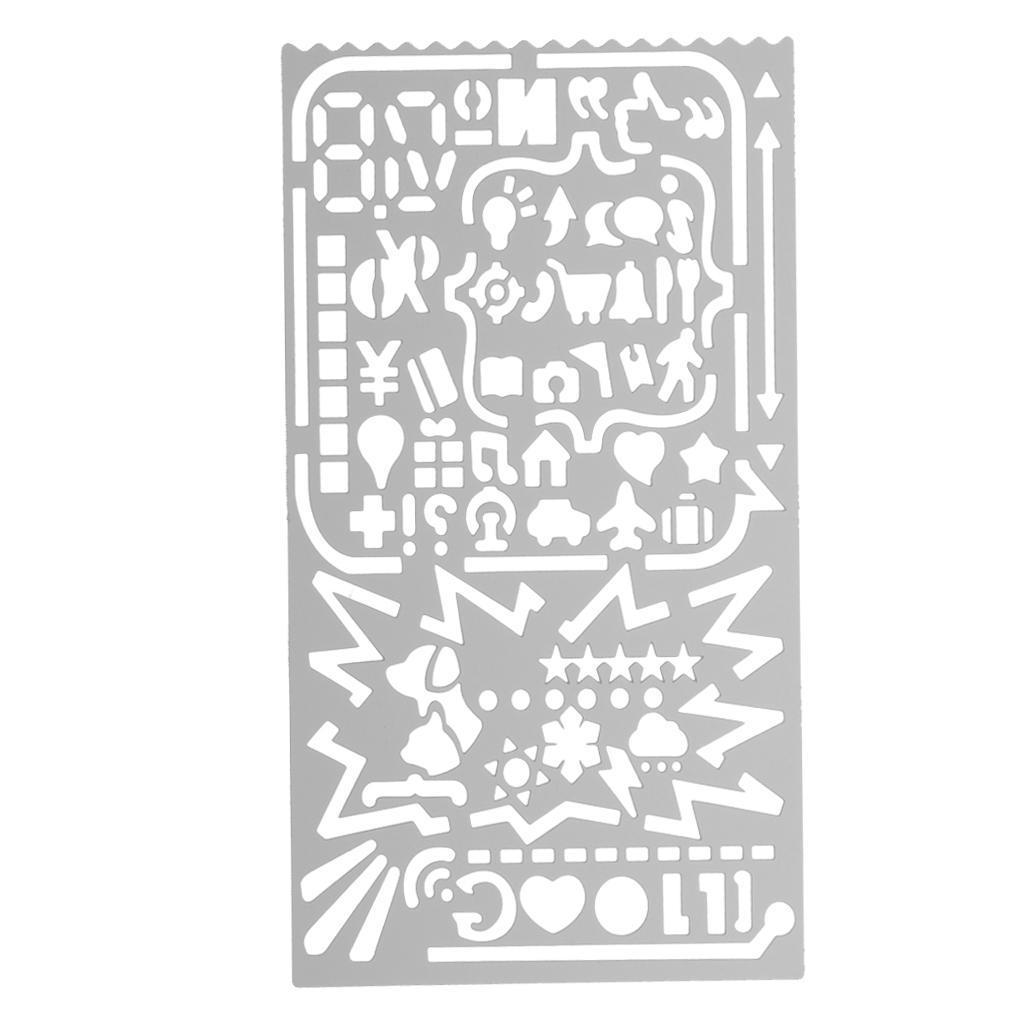 Metall hohl Zeichnung Vorlage Lineal Schablone Tool Briefpapier DIY ...
