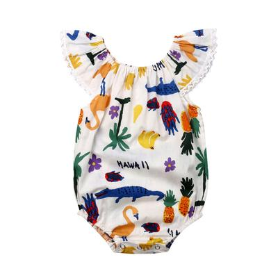 Canis Newborn Baby Girl Cotton Romper Jumpsuit Bodysuit Outfit Summer Clothes