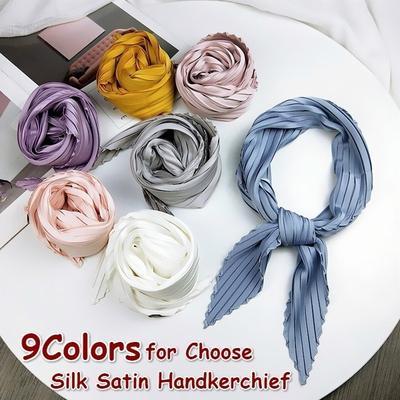 New Fashion Women Decoration Fashion Silk Satin Handkerchief Small Neck Scarf Square Scarf