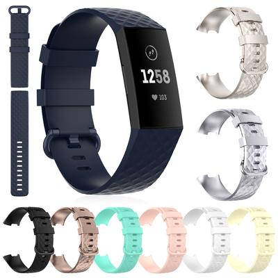 Sport Silicone Band Wrist Strap Replacement For Fitbit Charge 3 SE/Charge 4 SE