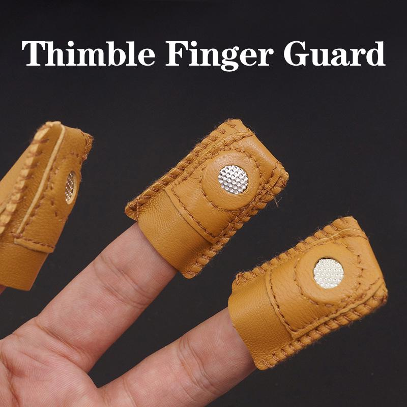 1PC Finger Leather Thimble Sheepskin With Metal Tip For Needle Quilting/'