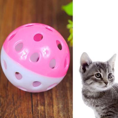 027910199 Gato cachorro plástico redondo Play Ball con campana abalanzarse Chase  sonajero mastique para mascotas juguetes