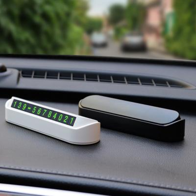Car Parking Card Phone Number Sticker Drawer Style Hidden Auto Plate Tool Beamy