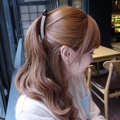 Crystal Hair Accessories Barrette Women Banana Rhinestone Full Hairpin Hair Clip