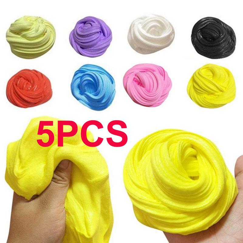 5pcs Slime DIY Creative Street Model Clay Soft Molded Oven Baking and Tutorial Kids Toy