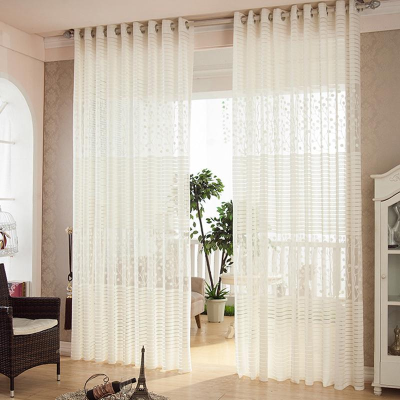 Kitchen Sheer Curtain Panels, Living Room Curtains Modern