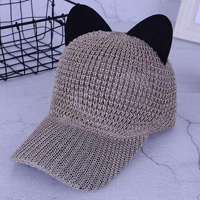 da4219a972ba9 Spring Summer Fashion Hat Cute Cat Ears Caps Women Hats Women s Baseball  Caps Beret Breathable