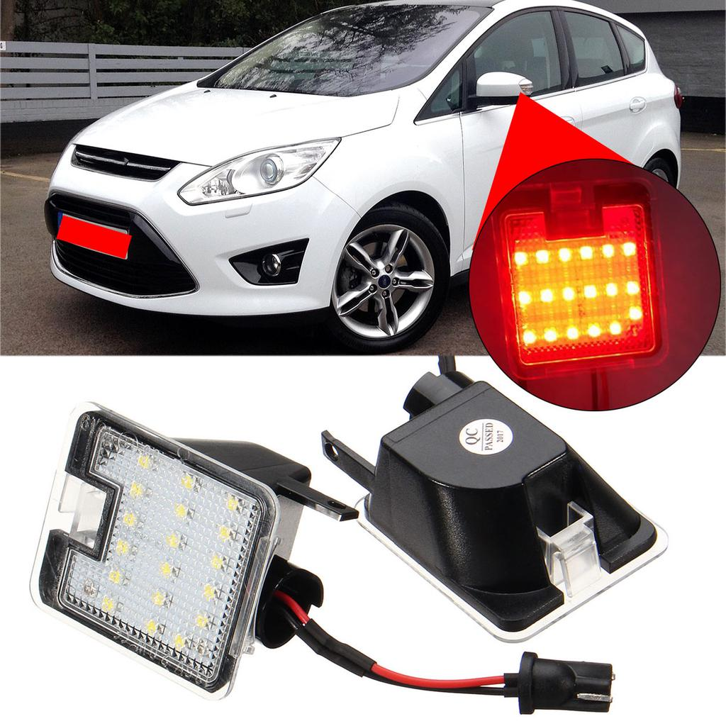 color blanco Juego de 2 luces LED de alta potencia para C-Max//C-Max II//Focus III//Kuga//Kuga II//Escape 2015-2016//Mondeo IV 2007-2014 2 W, 18 SMD
