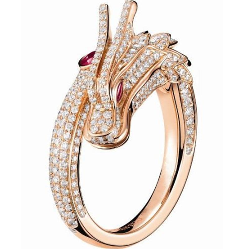 Adjustable Alloy Angel Wings Open Ring Full Crystal Rhinestone Wedding Jewelry