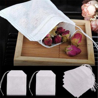 100Pcs/Lot Empty Scented Pouch Bag 5.5 X 7CM Seal Filter for Medcine Cook Herb Spice Loose Tea Bag