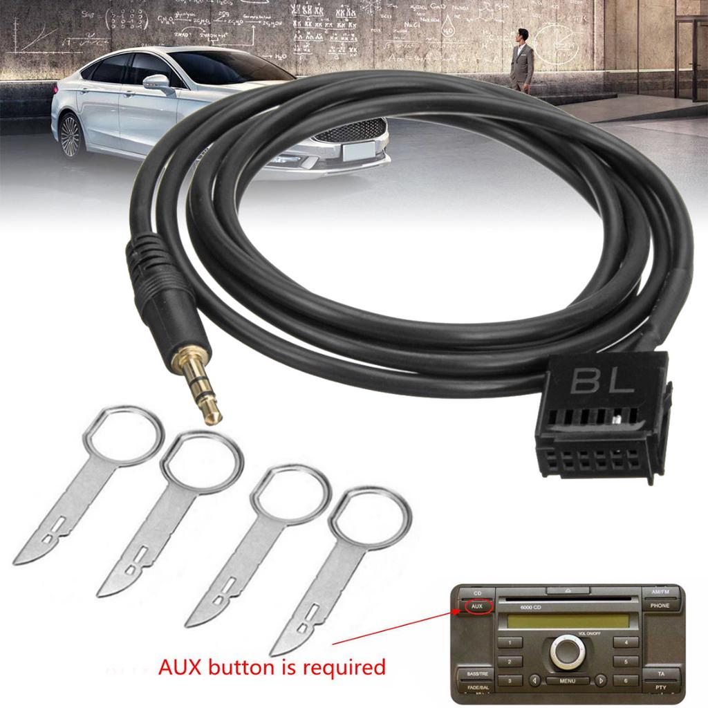 Car AUX In Input Interface Adapter 3.5mm MP3 Cable for Ford Mk2 C-Max