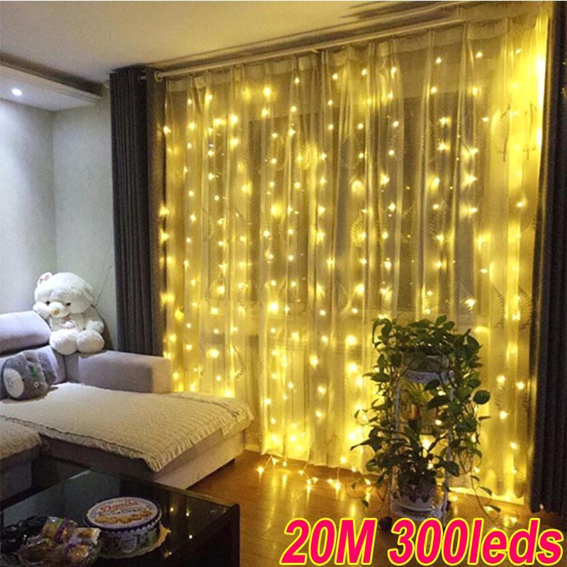 Светодиодный занавес для домашнего декора, цвета в ассортименте фото