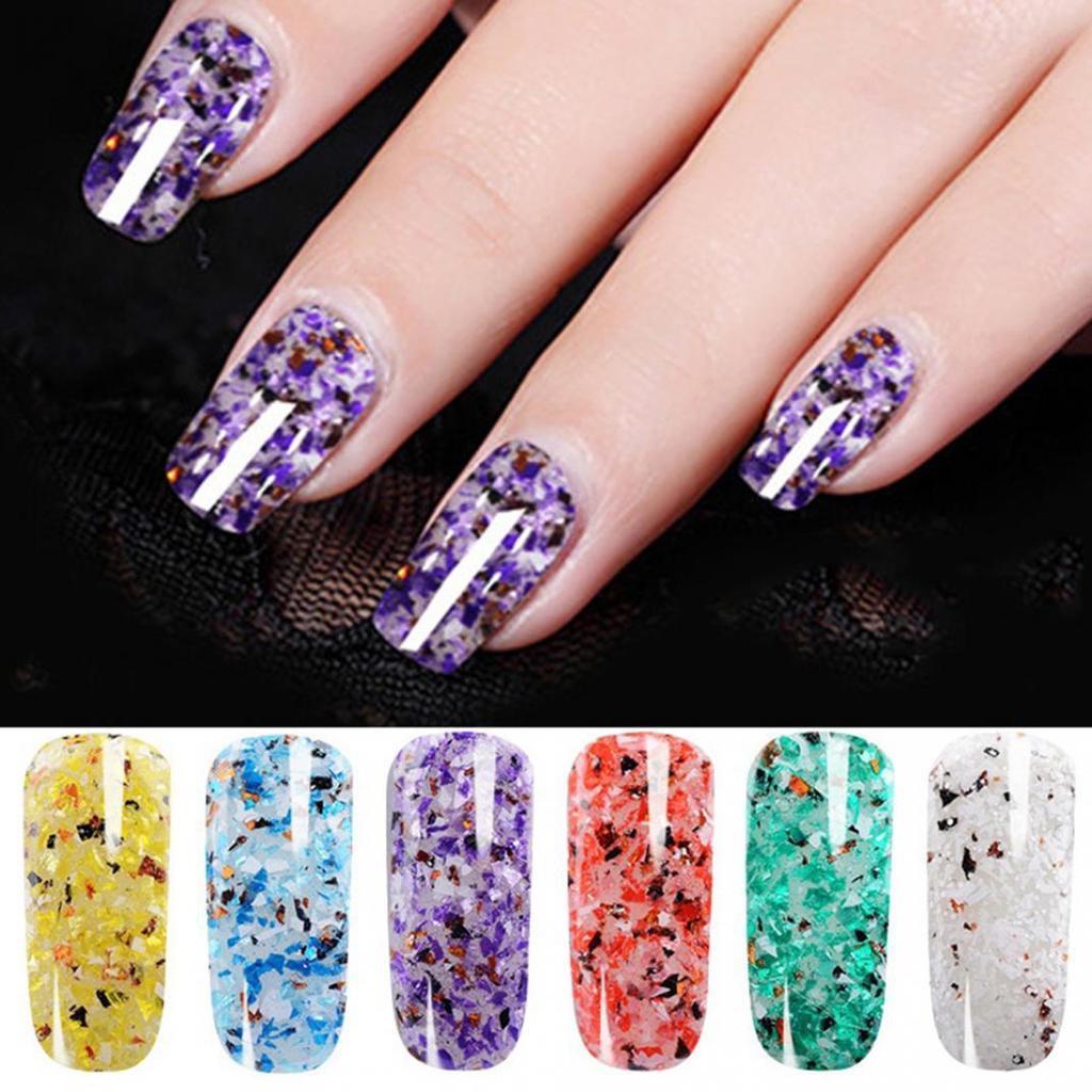 3g Din Marmură Sequin Efect Glitter Uv Led Nail Art Manichiura De