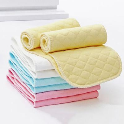 10Pcs Reusable Baby Cotton Cloth Diaper 3 Layers Nappy Liners Inserts Natural