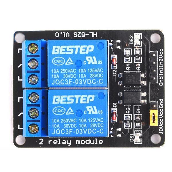 Relay module 2 way relay module 3V optocoupler isolation blackboard