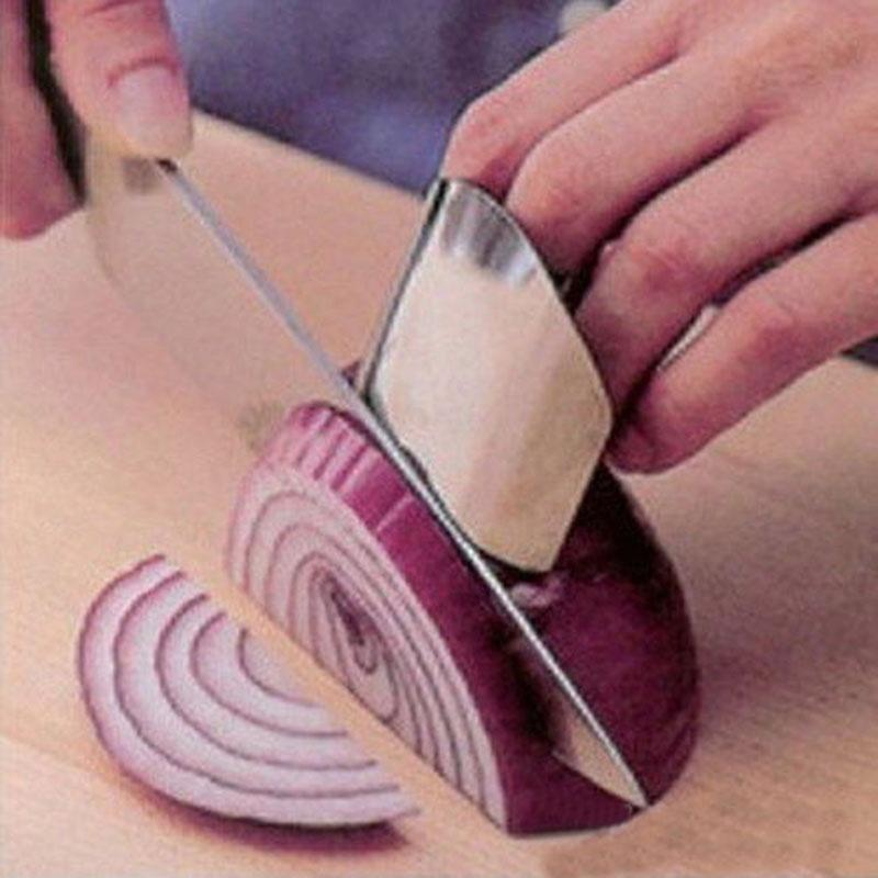 加厚不锈钢护指器家用厨房创意切菜小工具 方便不锈钢护手器