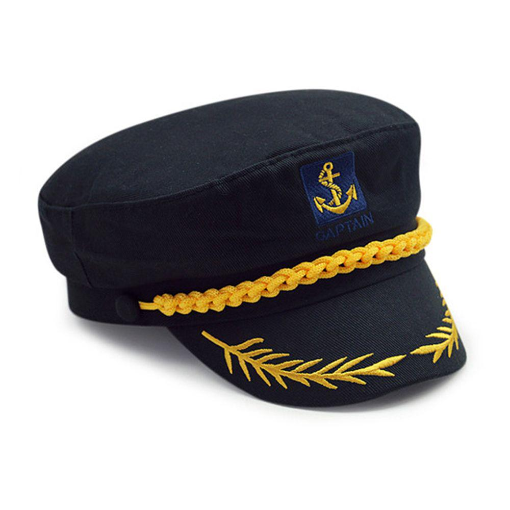 f8e2021f808f9 Fancy Dress Boat Sailor Skipper Ship Costume Military Nautical Hat ...