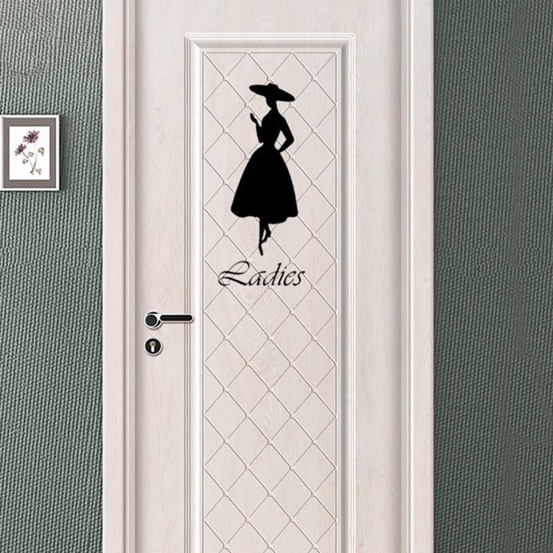 Fashion Door Sticker, Bathroom Door Decals