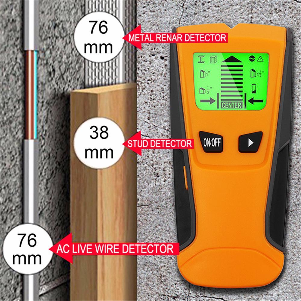 3 IN 1 DETECTOR STUD METAL AC LIVE WIRE TOOL MEASURE ELECTRICIAN BUILDER P365