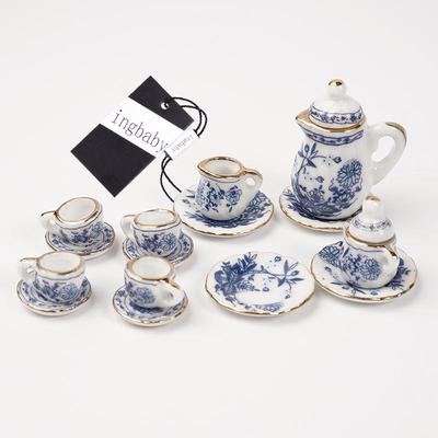 Lot of 15PCS 1//12 Dollhouse Miniature Ceramic Coffee Cup Set Color Random Z3S5