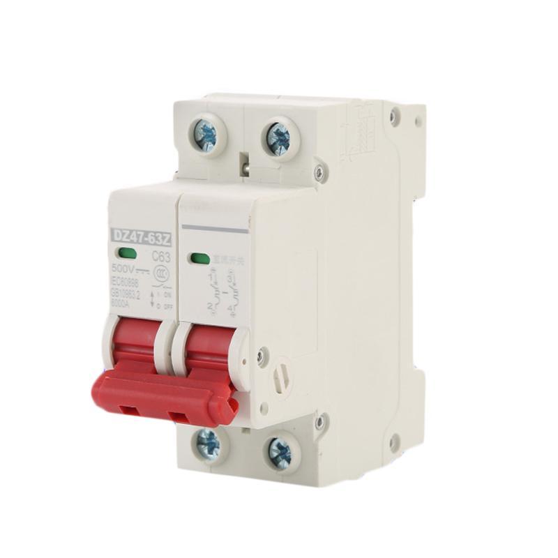 DC500V 2P 10A//16A//32A//50A//63A Solar Photovoltaic DC Miniature Circuits Breakers