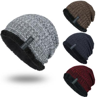 Mens Womens Unisex Knitted Hat Camouflage Chunky Hats Beanie Caps Winter Ski Cap