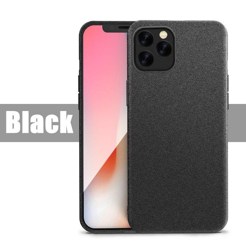 For iPhone 12 Pro Max Ultra-Thin Sandstone Matte Case Soft Back Cover For iPhone 11 Pro 7 8 XR XS Max Slim Scrub Phone Cases