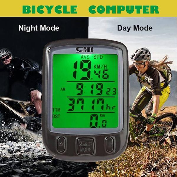 LCD Bicycle Bike Computer Odometer Waterproof Speedometer Stopwatch Bicycle