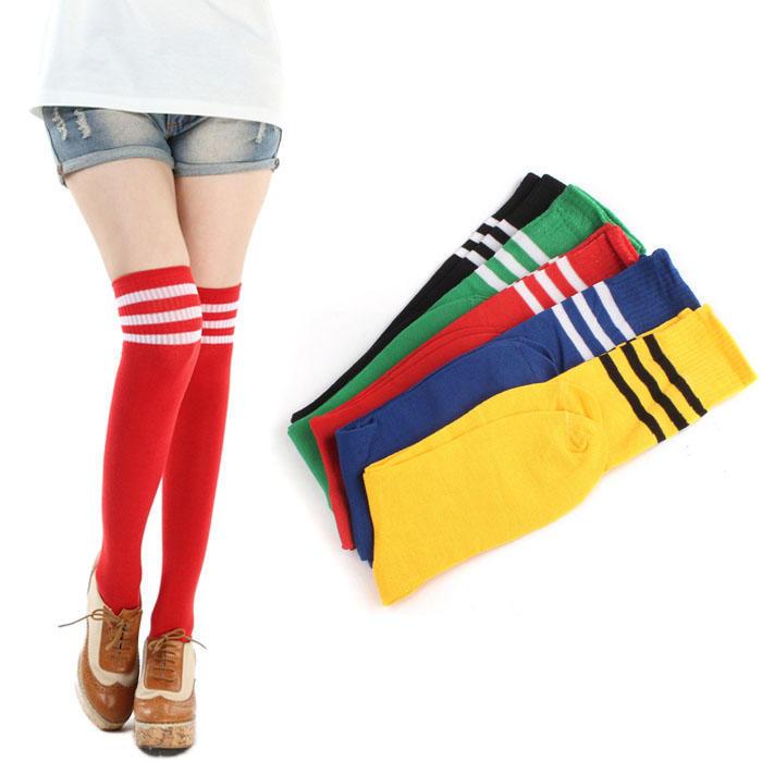 High Elasticity Girl Cotton Knee High Socks Uniform Golves Christmas Women Tube Socks