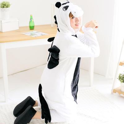 db0ec1e669bc2d Czarny Jednorożec Jesień Zima Piżamy Zwierząt Onesie Piżamy Unisex  Dorosłych Unicornio Cosplay Costume