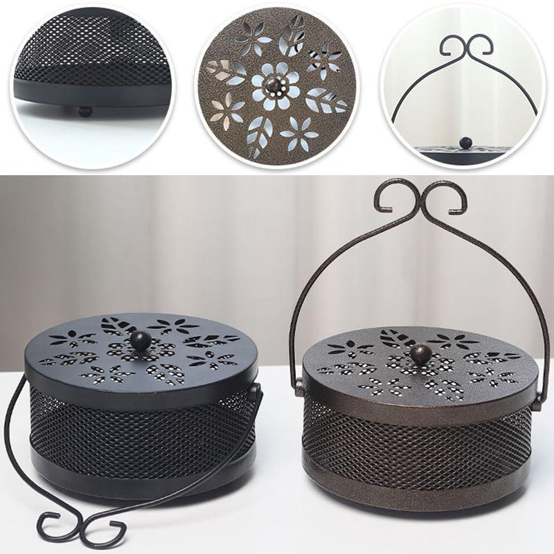 Metal Mosquito Mozzie Coil Holder Burner Repellant Home Garden Art Decor Outd VC