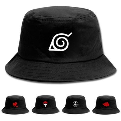 Anime Naruto Akatsuki Clouds Uchiha Family Logo Bucket Hat Fisherman Hat Hip Hop Sun Hats