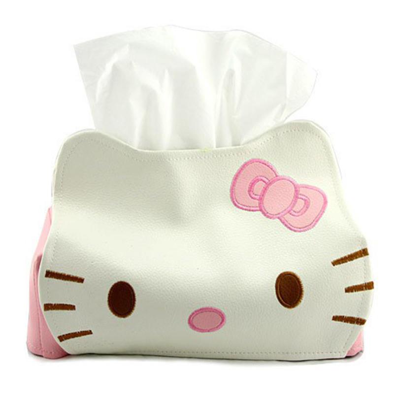 凯蒂 猫维尼熊卡通长方形皮革纸巾抽抽纸盒纸巾盒套抽纸套