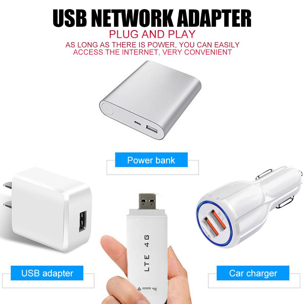 Mini Network Adapter Share up to 10 WiFi Users Micro SD Memory Expansion up to 32GB with WiFi Function 4G LTE USB Network Adapter Wireless WiFi Hotspot Router Modem Stick