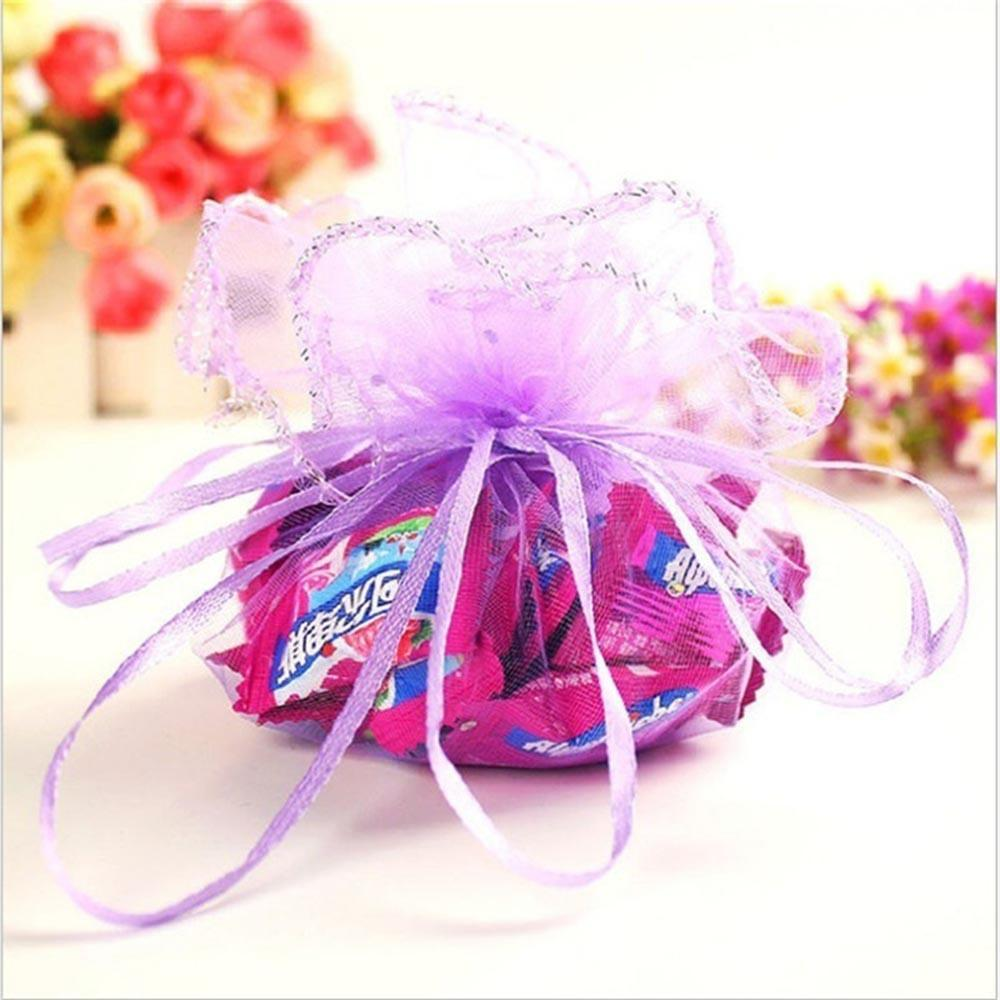 Drawable Jewelry Pouch Party Favors Organza Xmas Candy Candy Bag ...
