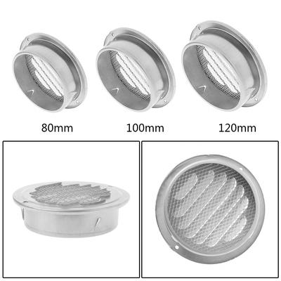 Adjustable Circle Plastic Ducting Air Vent Cover Grille Duct Outlet ALL SIZES UK