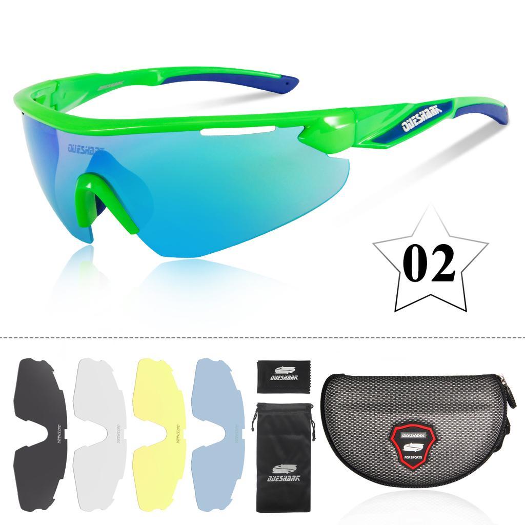 KDEAM Sportbrille Polarisiert Sonnenbrille Gläser Brillen Sunglasses Glasses Neu