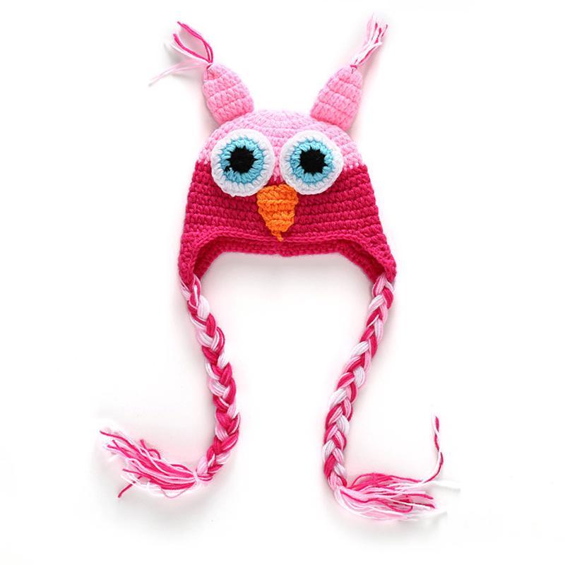 Bebé invierno sombrero búho lindo mano gancho orejeras niños niños a ...