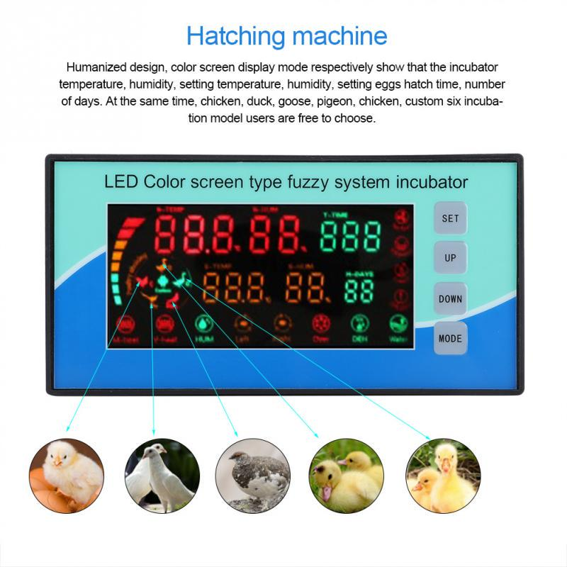 Incubator for Hatching Eggs Automatic Turning with LED Temperature Humidity Display Screen