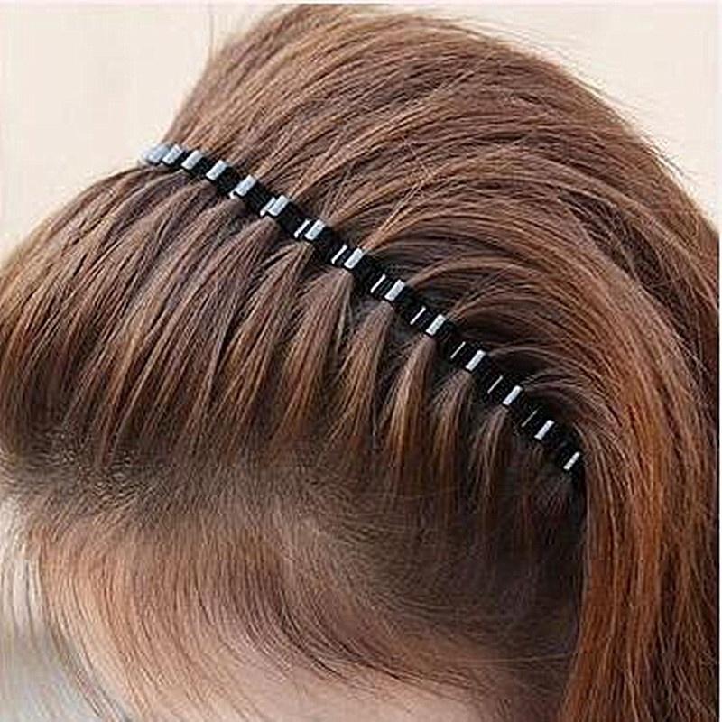 Neu Unisex Sport Gewelltes Haarband Metall Stirnband Haarschmuck Kopfschmuck