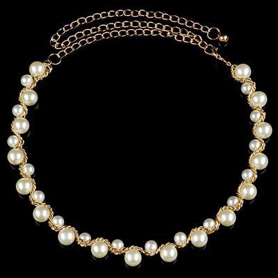 Women Silver Metal Diamond Diamante Waist Chain Belt Skirt Gowns Dress Decor