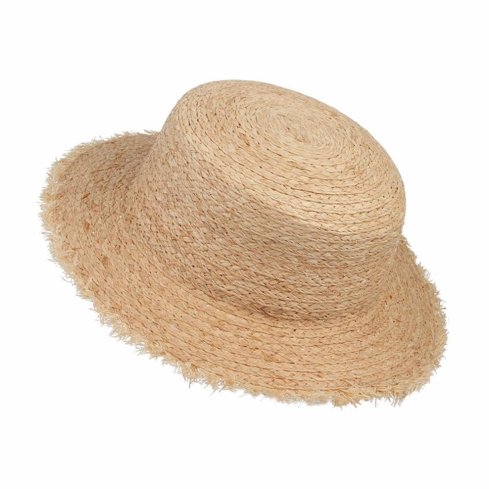 Sombreros Vintage franja ancha ala rafia paja sombrero mujeres playa ... 0bc0f1dfc94