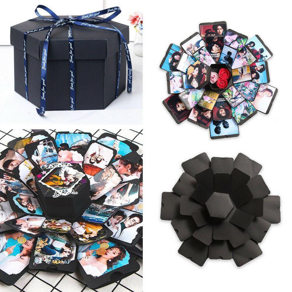 Explosion Box Scrapbooking DIY Photo Album Wedding Birthday Valentine/'s Day   IZ