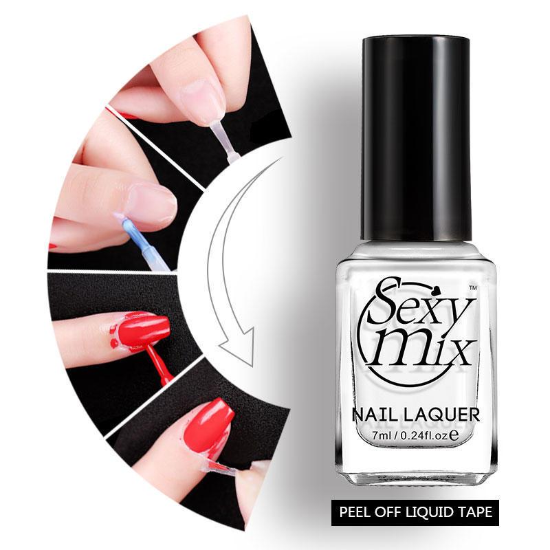 7ml Liquid Transparent Peel Off Nail Art Latex Tape Easy To Clean ...