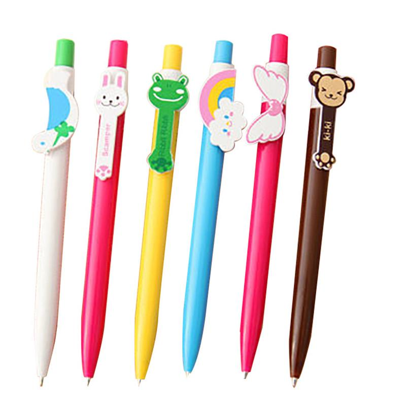 Cute Animals Ballpoint Pen Catoon Bird Cat Frog Monkey Butterfly Ball Pens For Kids Writing Gift Office School Supplies Office & School Supplies