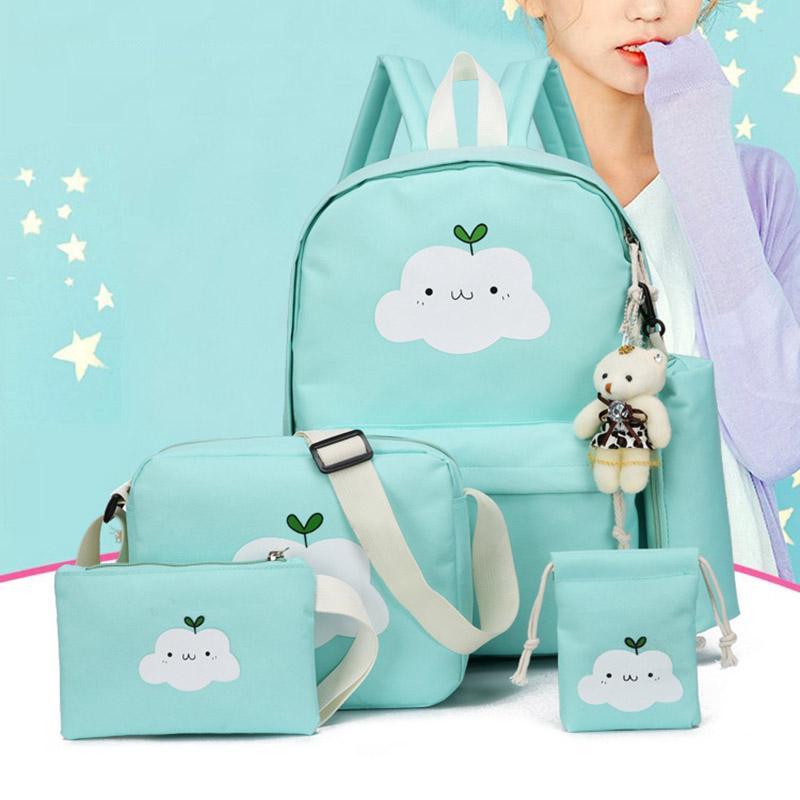Симпатичные Облако Печать Нейлон рюкзак Schoolbags для девочек-подростков случайных детей Путешествия Сумки – купить по низким ценам в интернет-магазине Joom