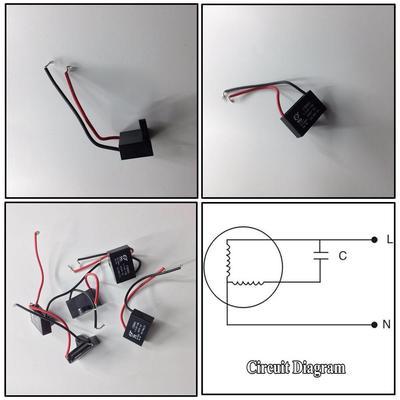 AC 450V 1,5/2uF CBB61 nützliche Motor laufen Kondensator ...
