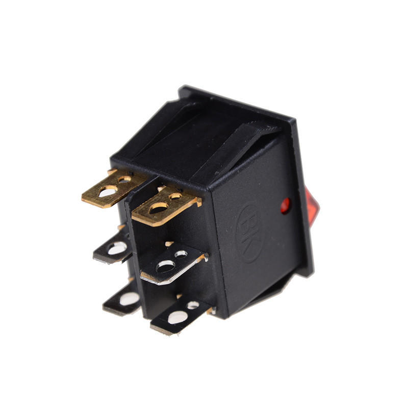 Red Green Light 6Pins Double SPST On//Off Boat Switch 16A 250V AC 20A 125V AC JH