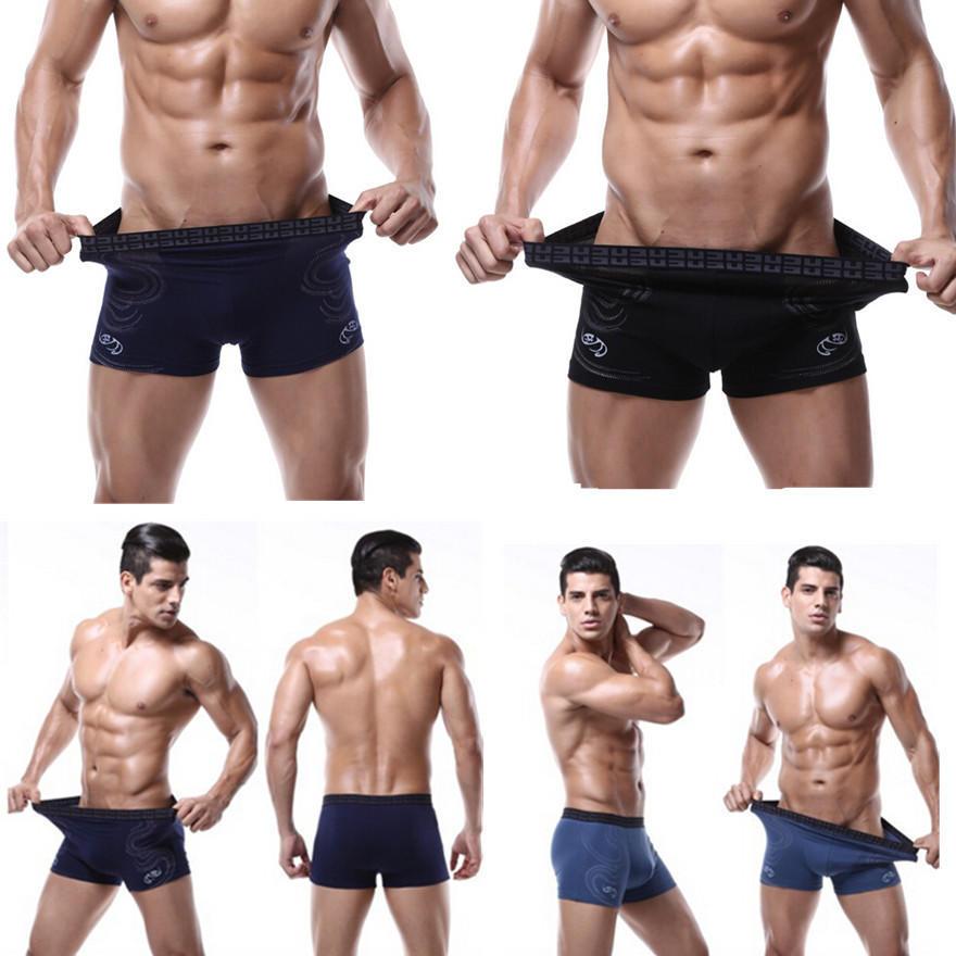 U Convex Men/'s Leopard Prints Slim Trunks Smooth Bulge Boxer Briefs Underwear