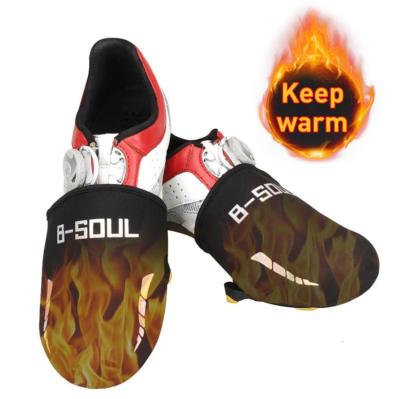 1 Pairs Bike Shoes Cover Bicycle Protector Toe Lock Windproof Half Overshoes Set